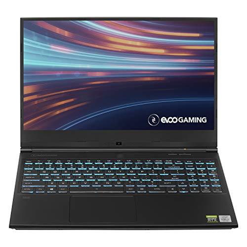 "Evoo Gaming 15.6"" Laptop, FHD, 144Hz, Intel Core i7-10750H Processor, NVIDIA GeForce RTX 2060, THX Spatial Audio, 512GB SSD, 16GB RAM, RGB Keyboard, HD Camera, Windows 10 Home, Black"