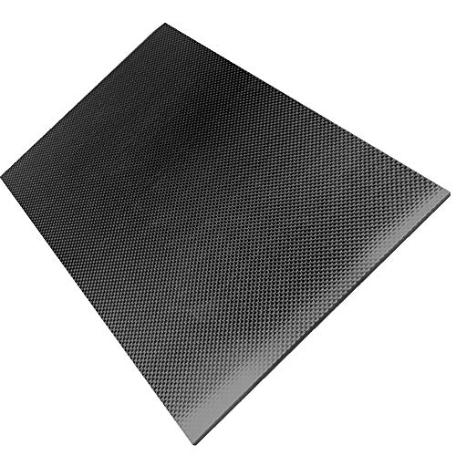 Spachy Kohlefaser-Platte, 200 x 300 mm, 100% Kohlefaser, Platte, 0,5 mm, 1 mm, 1,5 mm, 2 mm, 3 mm Dicke, Carbonfaser-Platten, Wie abgebildet, 0.5mm