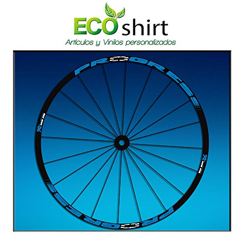 Ecoshirt FM-XS0G-DPU2 Pegatinas Stickers Llanta Rim Progress Xcd EVO Am44 MTB Downhill, Azul 29""