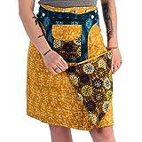 Sunsa Damen Rock Knielang Sommerrock Wickelrock aus luftiger Baumwolle, 2 Designs midi Röcke in einem, Skirt Größe verstellbar, Geburtstag Geschenk für Frauen, Hippie Boho Bekleidung 15740