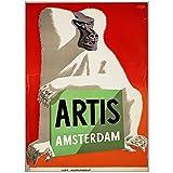 Carteles de turismo de Holanda Holanda Amsterdam Artis monkey lienzo de pared clásico póster vintage decoración de bar para el hogar regalo-50x70 cm x1 sin marco