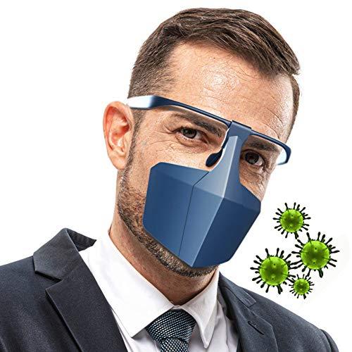 PM2.5 Máscara Antipolvo, Máscara Antipolución, Filtro De Carbón Activado, Alergia Antipolen, Carrera De Fitness, Máscara De Moto Para Hombre Y Mujer, Con Función De Gas Antitóxico La seguridad,Azul