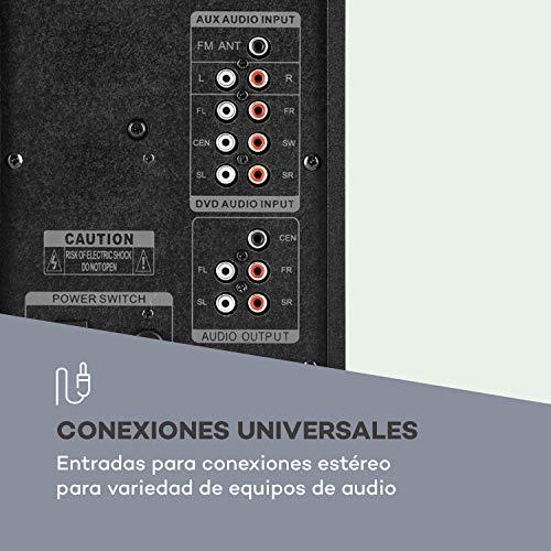 "auna Concept 720 - Sistema de Altavoces 5.1 , Sistema de Audio Envolvente Activo , Subwoofer OneSide 6,5"" , Bluetooth , Puerto USB SD , Sintonizador FM/MW , Balanced Sound Concept , Mando a Distancia"