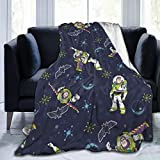 Lstardust Bu-zz Light-Year Soft Fuzzy Light Weight Warm Blanket for Bed Couch Chair Fall Winter Spring Living Room Multiple Sizes,50'' x40