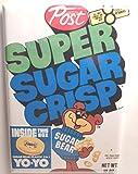 Super Sugar Crisp Vintage Cereal Box 2' x 3' Refrigerator or Locker MAGNET