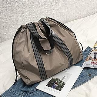 Luggage & Bags Leisure Handbag Nylon Shoulder Travel Sport Bag (Black) (Color : Brown)