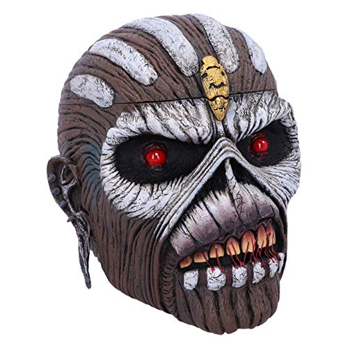 Nemesis Now Caja con Licencia Oficial de Iron Maiden The Book of Souls Eddie Head Box,  marrón,  18 cm