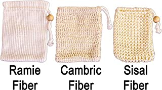Soap Saver Sampler – Learn Differences Between Sisal, Cambric and Ramie Fiber Pouches - Natural Skin Care – Eco-Friendly Bath Exfoliation from SeaSationals