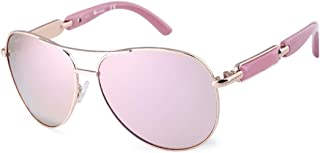Aviator Sunglasses For Women Metal Frame Polarized Sunglasses
