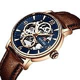 Reloj de Cuarzo para Hombre con Correa de Acero Inoxidable Reloj de Cuarzo Resistente al Agua -B
