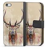 DeinDesign Étui Compatible avec Apple iPhone 5c Étui Folio Étui magnétique Animal-Look Cerf...