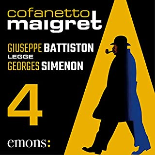 Cofanetto Maigret 4                   Di:                                                                                                                                 Georges Simenon                               Letto da:                                                                                                                                 Giuseppe Battiston                      Durata:  12 ore e 13 min     11 recensioni     Totali 4,5