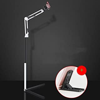 FKMYS Floor Stand Tablet Holder, Universal Tablet Stand : 360 Flexible Lazy Arm Holder Clamp Mount Bracket Bed (Color : Multi-colored)