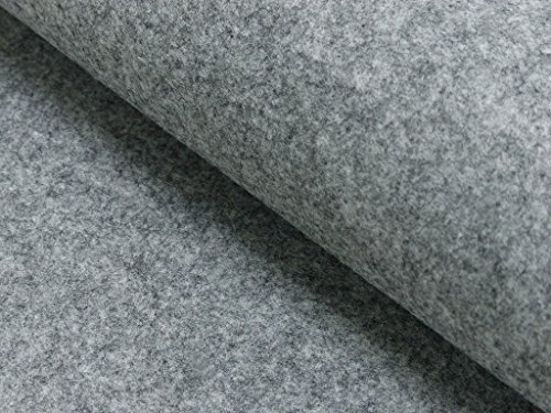 StoffBook GRAUMELANGE STABILER BASTELFILZ TASCHENFILZ STOFF 4MM-100CM STOFFE, D217