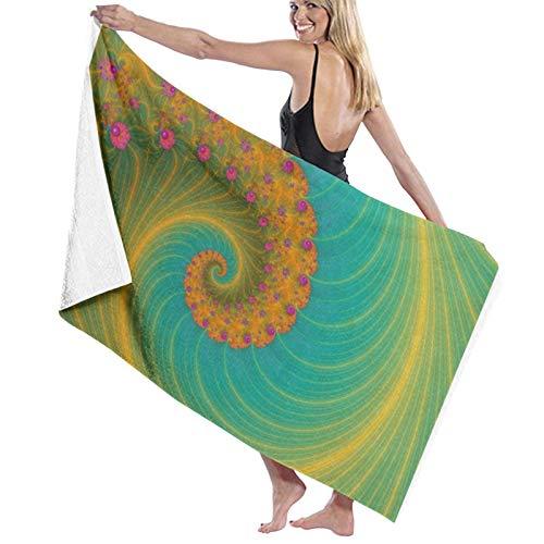 Vortex On Poppy Row - Toalla de baño de microfibra súper suave para playa, para viajes, deportes, 31.5 x 52 pulgadas
