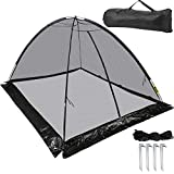 Happybuy Pond Cover Dome, 13x17 FT Garden Pond Net, 1/2 inch Mesh Dome Pond Net Covers with Zipper and Wind Rope, Black Nylon Pond Netting for Pond Pool and Garden to Keep Out Leaves Debris and Animal