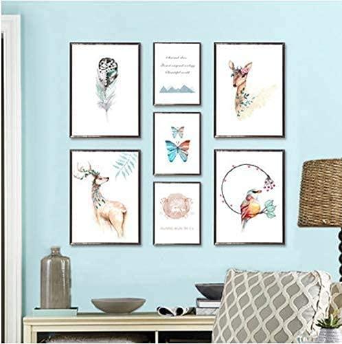 Hermosa Decoración De Animales Vibrantes Pegatinas De Pared De Vinilo Diy Foto Sala De Estar Decoración Del Dormitorio Póster 120 * 60 Cm