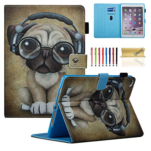 Dteck iPad 9.7 2018 2017 / iPad Air 2 / iPad Air Case, Multi-Angle Viewing Folio Stand Smart Shell Protective Cover with Auto Sleep/Wake for Apple iPad 6th/5th Gen,iPad Air 1 2,Music Dog