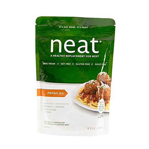 neat - Plant-Based - Italian Mix (5.5 oz.) - Non-GMO, Gluten-Free, Soy Free, Meat Substitute Mix
