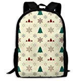 XCNGG Mochila de impresión de fotograma completo para adultos Mochila informal Mochila Mochila escolar Christmas Pattern Large Capacity Travel Computer Backpack, Adult Printed Backpack, Anti Splash St
