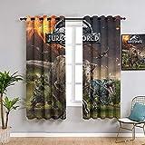 ZhiHdecor Cortinas para dormitorio Jurassic World, cortinas de 182,8 x 243,8 cm, cortinas de oscurecimiento y aislamiento térmico