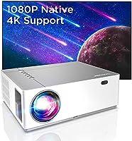 Projektor wideo LED, 6800 lumenów, Full HD, native 1080p, BOMAKER LED, projektor wideo 300 cali, zoom ± 50°, elektroniczn...