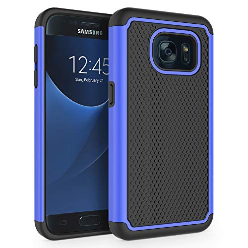 """Galaxy S7 Case, SYONER [Shockproof] Defender Protective Phone Case Cover for Samsung Galaxy S7 (5.1"""", 2016) [Blue]"""