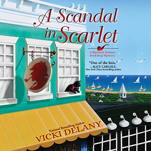 A Scandal in Scarlet audiobook cover art