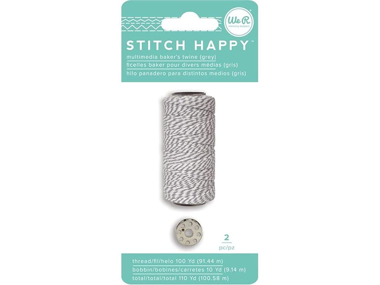 We R Memory Keepers We R Memory Stitch Bakers Grey Sth Happy Twine&Bobbin