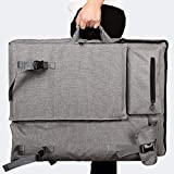 Tonquu Art Sketch Bag, Canvas Material Multifunctional Waterproof Large Capacity Travel Backpack Sketch Art Bag with Adjustable Thickened Shoulder Strap, Wear Resistant and Breathable