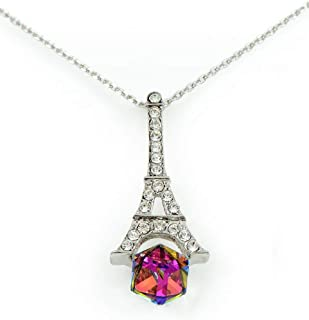 Swarovski Elements Women's 18K White Gold Plated Pendant Necklace - SWR-160