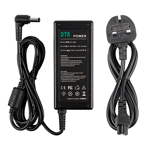 Dtk Ac Adapter Laptop Computer Charger/Notebook Pc Supply Power source for Asus n17908 v85 / Toshiba/Lenovo/Medion Output: 19V 3.42A 65W Power Cord Connector Size: 5.5 X 2.5mm