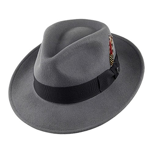 Jaxon & James Chapeau Fedora Déformable C-Crown Gris Large