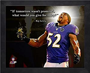 """Ray Lewis Baltimore Ravens ProQuotes Photo (Size: 9"""" x 11"""") Framed"""