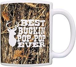 Pop Pop Grandpa Gifts Hunting Camo Best Buckin' Pop-Pop Ever Gift Coffee Mug Tea Cup Camo