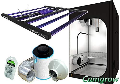 Lumatek LED Grow Tent/Room Kits - Secret Jardin Tent, LED & Extraction Kit (Kit Dr 150 + Zeus Pro 600W)