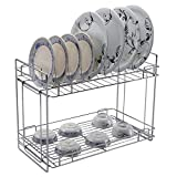 Wonderland Stainless Steel Kitchen Rack, Standing Cup & Saucer Folding Racks, Modular Kitchen, Racks for Kitchen, Rack for Kitchen Metal