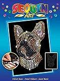 Sequin Art Blue Pets - Frenchie Bulldog Sparkling Creative Arts & Crafts Picture Kit on Velvet Background