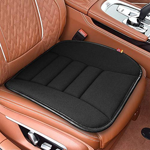 RaoRanDang Breathable Car Seat Cushions Pad Memory Foam Seat Cushion for Auto Supplies Office Chair (Black)