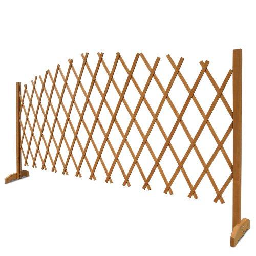 Deuba Gartenzaun Rankhilfe Rankgitter Holzzaun Pflanzengitter | 200 cm | zusammenfaltbar | variabel verstellbar - 4