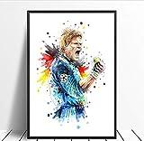 yhnjikl Oliver Kahn Fußballstar Poster Original Aquarell