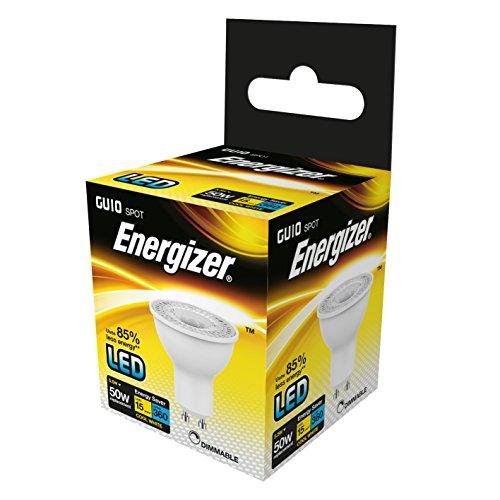 Energizer LED à intensité variable GU10 Ampoule basse consommation, verre, Blanc Froid/blanc/K, GU10, 5 watts, Plastique, Cool White/White, 5 Watts, GU10 5.5 watts 240 volts