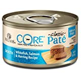 Wellness Core Natural Grain Free Wet Canned Cat Food, Whitefish, Salmon & Herring, 3-Ounce Can - Pack Of 12