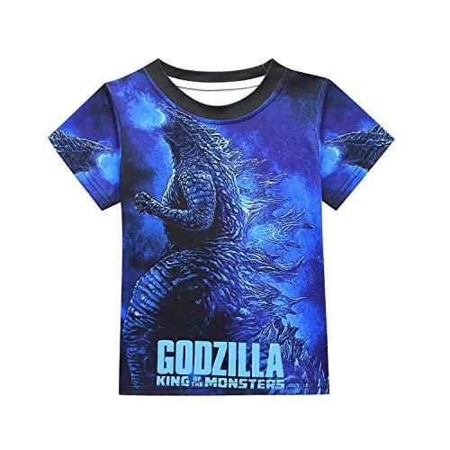 Sudadera con Capucha para Ni/ños Godzilla Camisa de Manga Larga con Estampado 3D