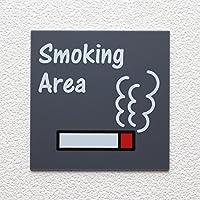 ルームプレート 「Smoking Area」喫煙所 RPA-0118