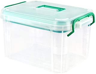 XZHMYYH Medicine box Family medicine box multilayer portable first aid kit bilayer pharmaceutical cosmetic plastic storage box medicine box (Size : Small)