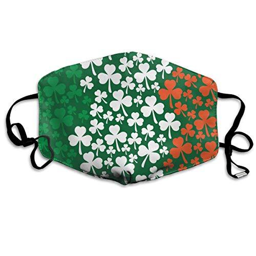 Nonbrand Irische Kleeblatt-Flagge, bedruckt, Unisex, Vollabdeckung, Gesichtsmaske, Bandanas mit UV-Schutz