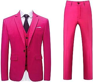 NANNRE ビジネススーツ メンス スーツ 3点セットメンズ ビジネススーツ ジャケット スラックス ベスト 1つボタン スリム ビジネス フォーマル カジュアル ビジネス パーティー 結婚式 就職スーツ 大きいサイズ