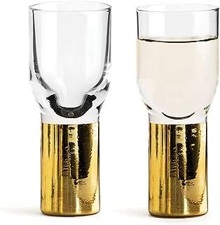 Sagaform Club Schnapps and Shot Glass Gold 2-Pack, Nylon/A