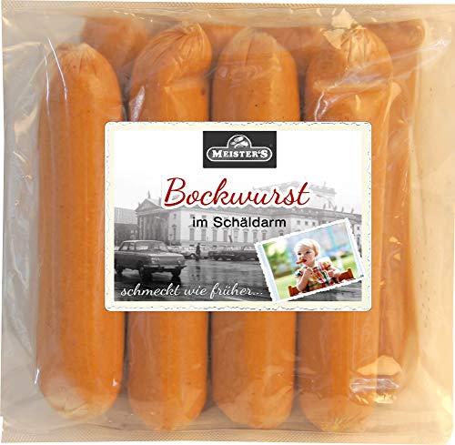 Delikatess Schäldarm Bockwurst frisch, zart & knackig | Würstchen geräuchert | Ideal für Curry-Wurst Premium-Qualität 10 x 100g